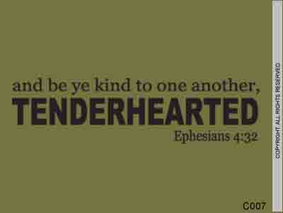 And be ye kind to one another