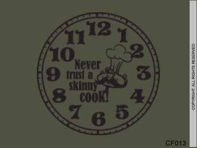 Never trust a skinny cook clock