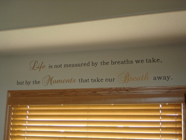 Living Room Wall Saying