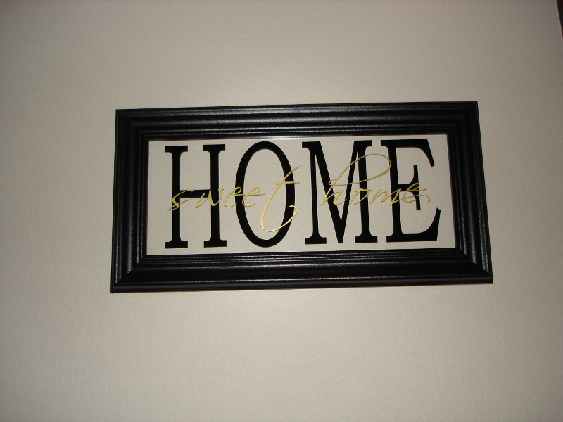 """Home Sweet Home""  Glass Picture Frame"