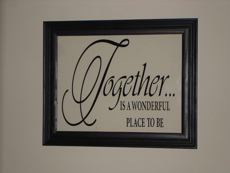 """Together is a Wonderful Place to be""  Picture Frame"