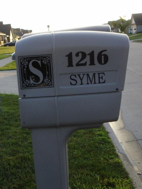 Mailbox Monogram, Address and Name