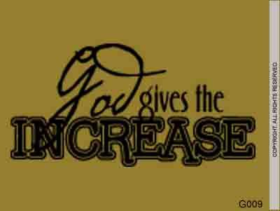 God gives