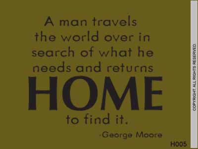 A man travels