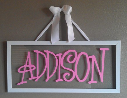 Girl Name Picture Frame