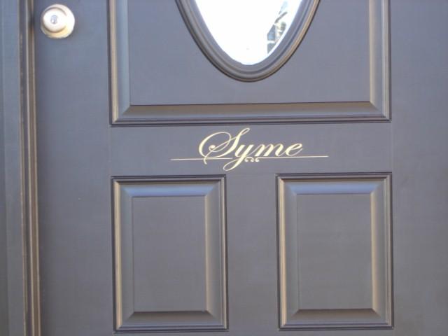 Last Name for Front Door
