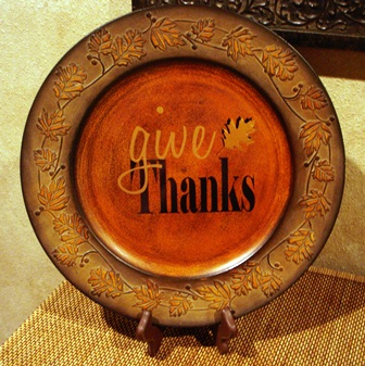 """""""Give Thanks"""" Plate"""
