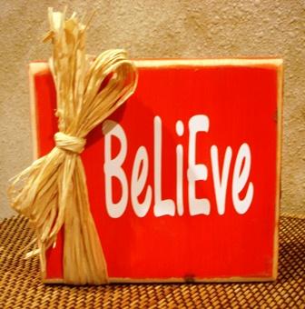 """Believe"" Christmas block"