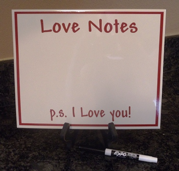 "8"" x 10"" LOVE NOTES - Dry Erase Board"