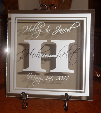 "12"" x 12"" Wedding Mirror Tile"