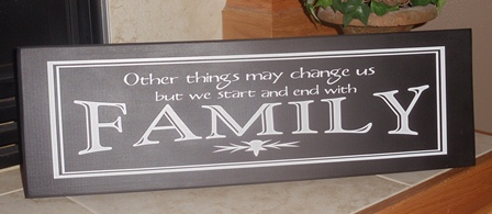 """Family"" wooden wall plaque"