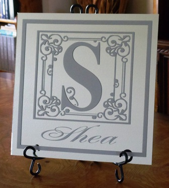 "12"" x 12"" Silver on Mirror Tile"