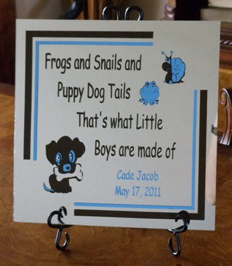 """12"""" x 12"""" Personalized Baby Mirror Tile"""