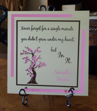 "12"" x 12"" Personalized Baby Mirror Tile"