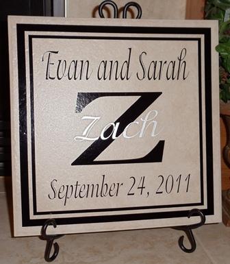 """12"""" x 12""""  Wedding Tile"""