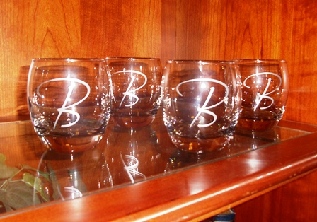 Personalized Monogram Glasses