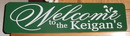 """""""WELCOME"""" Metal Sign"""