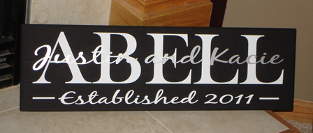 Year Established Family Name Plaque