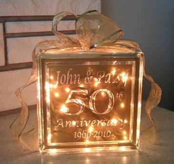 50th Anniversary Glass Block