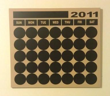 Hanging Vinyl Wood Calendar