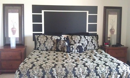 Contemporary Vinyl Headboard