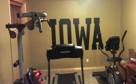 Custom Lettering for your Workout Room