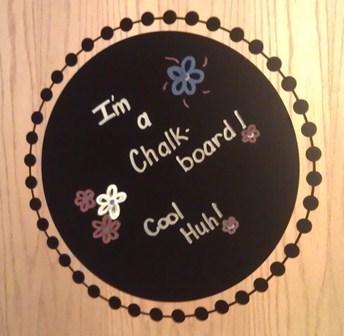 Vinyl Circle Chalkboard