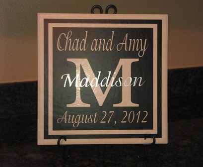 Black and Silver FULL Wedding Tile