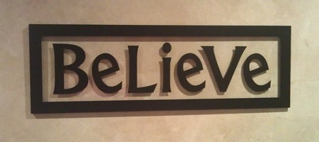 """12"""" x 36"""" BELIEVE Picture Frame"""