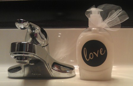 LOVE - Soap Bottle