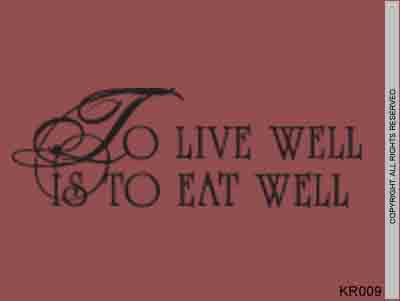 To live well