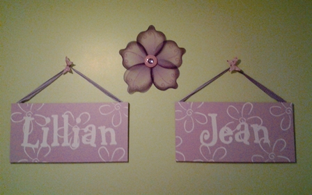 Baby Name Canvases