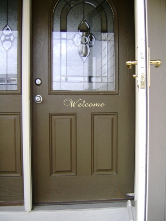 """Welcome"" for your front door"