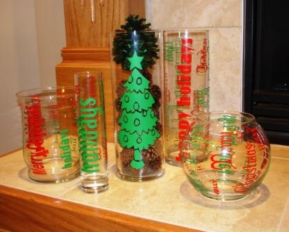 Holiday Glass Jars