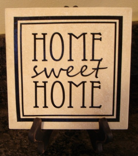 "6"" x 6""   'Home Sweet Home' Tile"